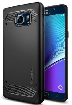 Galaxy Note 5 Case, Spigen® [Rugged Armor] Resilient [Black] Ultimate protection and rugged design with matte finish for Galaxy Note 5 (2015)