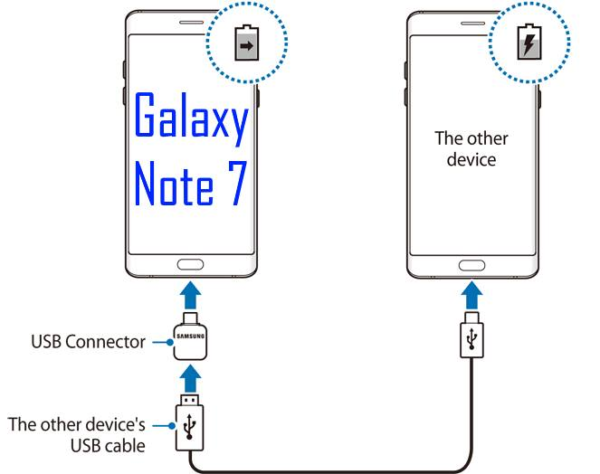 charge other devices with Galaxy Note 7 battery