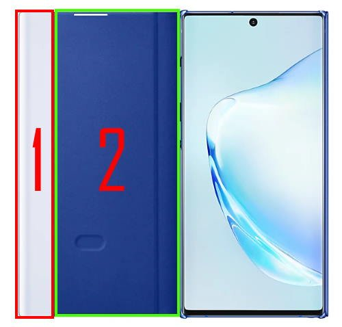 What's new in Galaxy Note 10 clear view cover (S View cover)?